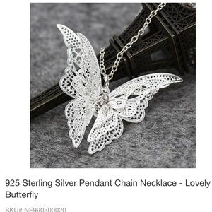 BUTTERFLY NECKLACE 925 STERLING  SILVER